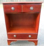 Small Inlaid Mahogany Open Cabinet